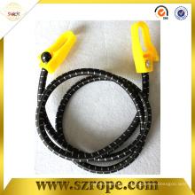 cordón elástico negro con gancho de plástico