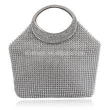 Silver Ladies Evening Dinner Clutch Bag Saco de noiva para festa de casamento Evening Use Handbags nupciais B00038 moda bolsa feminina