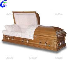 Funeral de armazenamento em casa o caixão de madeira cadáver