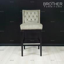 Современный дизайн деревянного ткань барные стулья высокие стулья для дома и бара