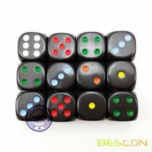 Hermoso redondo 19MM Rainbow Spot Dice 3/4 ""