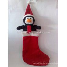Plüsch Pinguin Weihnachtsstrumpf weiches Spielzeug
