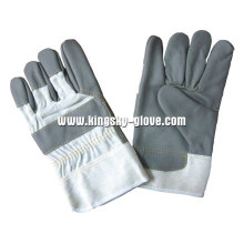 Dark Color Full Palm Furniture Leather Glove-4024