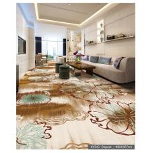 Luxury Living Room Crystal 550G Printed Floor Carpet
