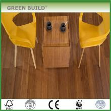 Couleur carbonisée avec plancher en bambou tissé massif brossé blanc de 14 mm