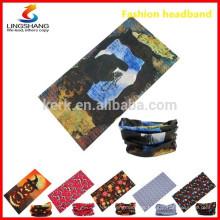 Multifunción 12in1 tubo desgaste novedad bandana poliéster stretch bandanas moda al aire libre sin pañuelos bandana