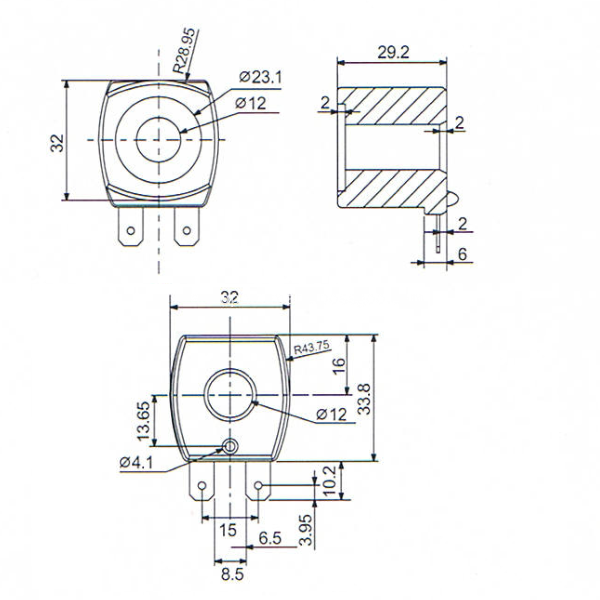 cng valve coil drawing