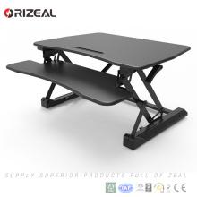 Convertisseur de bureau debout, hauteur Réglable Sit Stand Riser, Ordinateur debout de bureau Riser Prix le plus bas