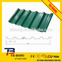 Stone coated aluminum step tile roofing sheet