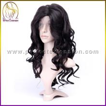 Amostras grátis de todos os produtos brasileiros remy cabelo humano peruca dianteira do laço à venda
