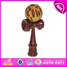 El más nuevo Kendama Toy Set de madera, Kendama para Kendama Kendama Bolas de madera por mayor, Kendama Toy de madera con 18 * 6 * 7cm W01A017