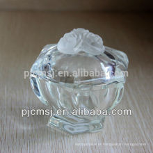 Cristal de vidro personalizado caixa de jóias trinket