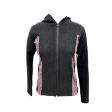 Womens knit long sleeve activewear jacket