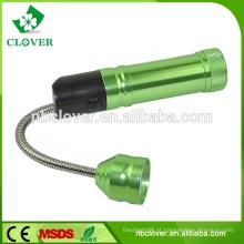 Promocional 3 * AAA bateria 9 LEDS lanterna telescópica tocha flexível
