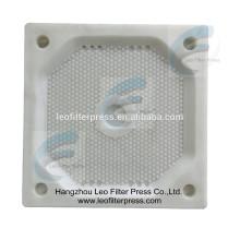 Plaque filtrante de chambre de presse de filtre de Leo, plaque filtrante de chambre enfoncée pour la presse de filtre de plat de chambre, presse de filtre de Leo Chine
