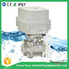 3 peças de alta pressão de aço inoxidável de controle de água bola elétrica motorizada válvula
