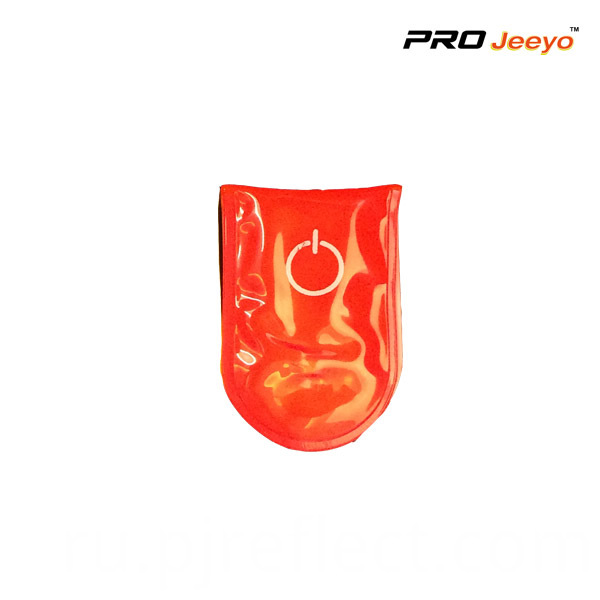 Reflective Pvc Red Led Light Magnetic Clip For Bagscj Pvc002