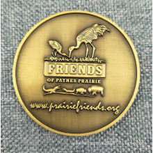 Custom Antique Brass Bronze Coin