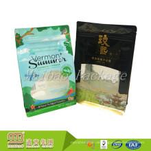 Kundenspezifischer Druck-Nahrungsmittelgrad-Seitenkeil-Plastikverpackungs-Block-flacher quadratischer unterer Beutel mit Fenster