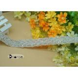Custom Silver Beaded Crystal Bridal Rhinestone Beaded Trim