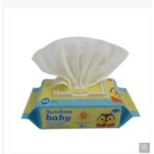 Lingettes humides pour bébé non-tissé en tissu non tissé Spunlace