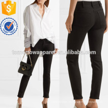 Climb Stay Mid-rise Jeans de pierna delgada Fabricación al por mayor Ropa de mujer de moda (TA3071P)