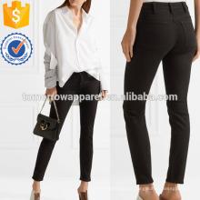 Escalar Stay Mid-rise Slim-leg Jeans Fabricação Atacado Moda Feminina Vestuário (TA3071P)