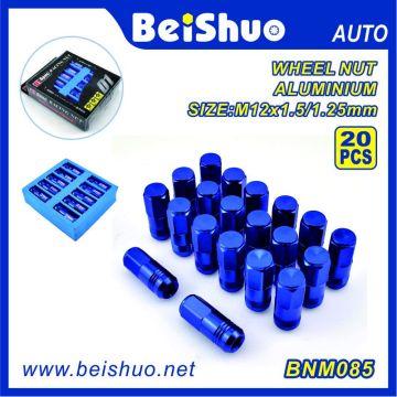 20PCS blaue Farben-Aluminiumnasen-Nuss eingestellt für Großverkauf