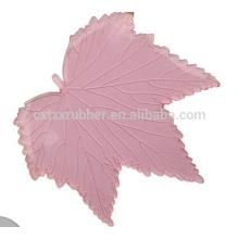 leaves shape hot selling car mat, silica gel non slip car pad