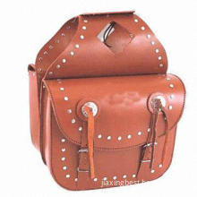 Leather Bicycle Bag, Fashionable Design, Comes in Velcro Closure