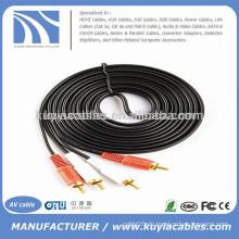 2RCA bis 2RCA Dual Kabel 5m Audio Video Kabel