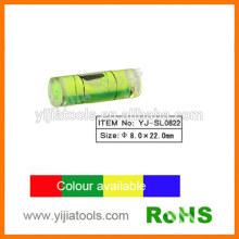 Пластиковый цилиндрический пузырьковый уровень с стандартом ROHS YJ-SL0822