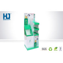 Customized Retail Cosmetic Product Display Stands Cardboard Supermarket Shelves