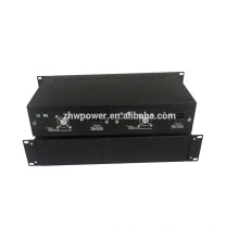 Fiber media converter Chassis , 19-inch rack-mountable with 2U height , media converter chassis