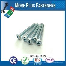 Fabriqué en Taiwan Steel Pan ou Fillister Head Machine Screw Black Oxide Finish Satisfait DIN 7985 Phillips Drive