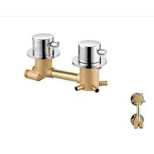 Manufacturer brass mixer faucets dual handle bathroom shower faucet