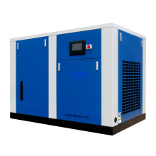 oil free screw air compressor for glass making