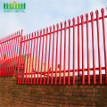 2.4m high  D pale steel palisade fence