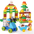 HappyFarm Bright Color Plastic Building Blocks Toys