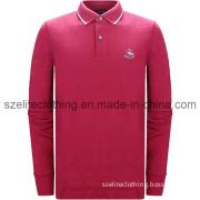 Man Red Long Sleeve Polo Shirts (ELTMPJ-172)