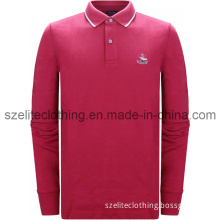 Man Red Long Sleeve Polo Shirts (ELTMPJ-172)