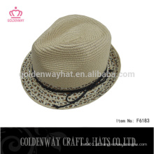 Chapéu de fedora de leopardo chapéu de fedora khaki chapéu trilby / fedora