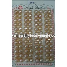 Mitad perforado perla grado AAA 7mm, rosa