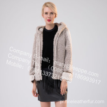 Krótka kurtka merynosowa Shearling For Lady