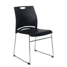 Cadeira plástica de empilhamento do escritório do quadro do metal de Seat sem cadeira Cadeira do treinamento de sala de conferências das rodas