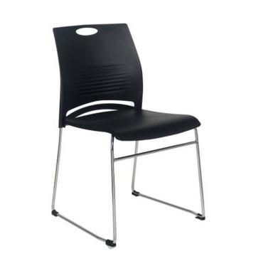 Silla plástica apilable para oficina de asiento de metal sin ruedas Silla de entrenamiento para sala de conferencias