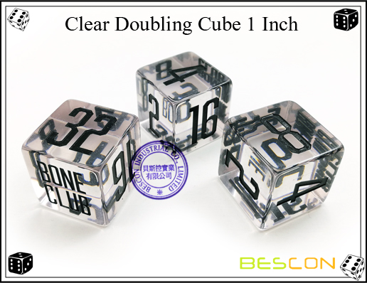 Clear Doubling Cube 1 Inch-2
