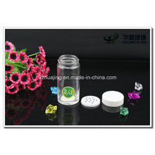 Clear 90ml Empty Round Pepper Glass Spice Bottle