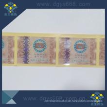 Heißpräge Hologramm Papier Label
