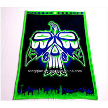 High Quality Polyester Flannel Throw